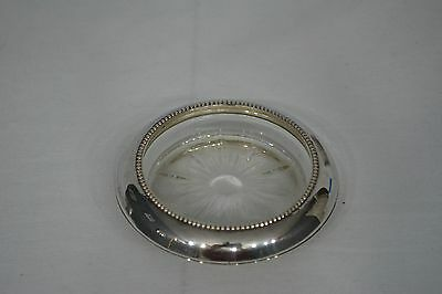 Vintage Frank M Whiting Sterling Silver /& Glass Beaded Coaster.8 Available EUC