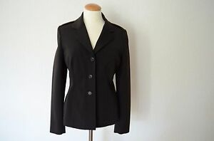 37797e7f33b20 Orig. PRADA schwarze Blazer Jacke D 38 IT 44 Military Style Couture ...