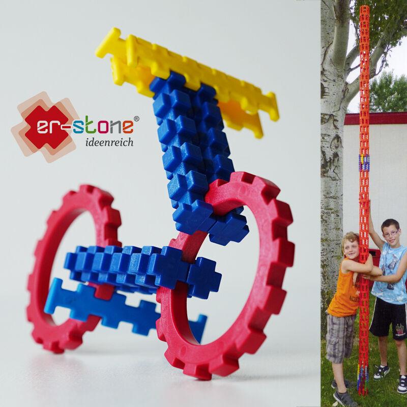 Er-stone® Starter-SET Spielbaustein Konstruktion 3D Baustein Set kreativ
