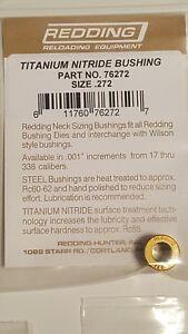 76272 Redding Titanium Nitrure .272 Cou Taille Bague-brand New-free Ship-afficher Le Titre D'origine