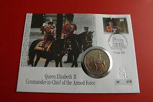 * Numisbrief Grande-bretagne 1993 à 25 Pence Pièce De Monnaie 1977 * (alb12)-afficher Le Titre D'origine