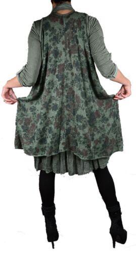3tlg invierno twinset punta túnica vestido de punto bufanda 44 46 48 50 L XL Lagenlook