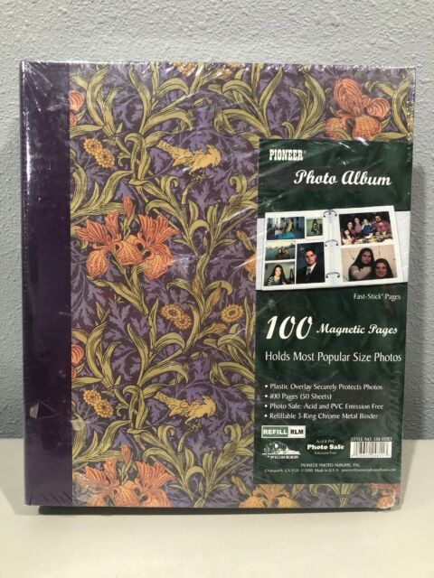 Pioneer Photo Album Lm 100d 100 Fast Stick Pages Tapestry Acid Pvc