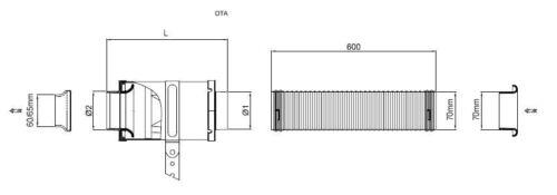 Boite à Air Carbone Admission Dynamique OTA70//85L200-B BMC Air Filter Carbone