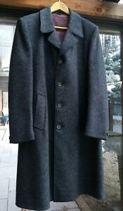 Vintage-1960s-Wool-Peacoat-Grey-Made-In-Canada-Sz-L