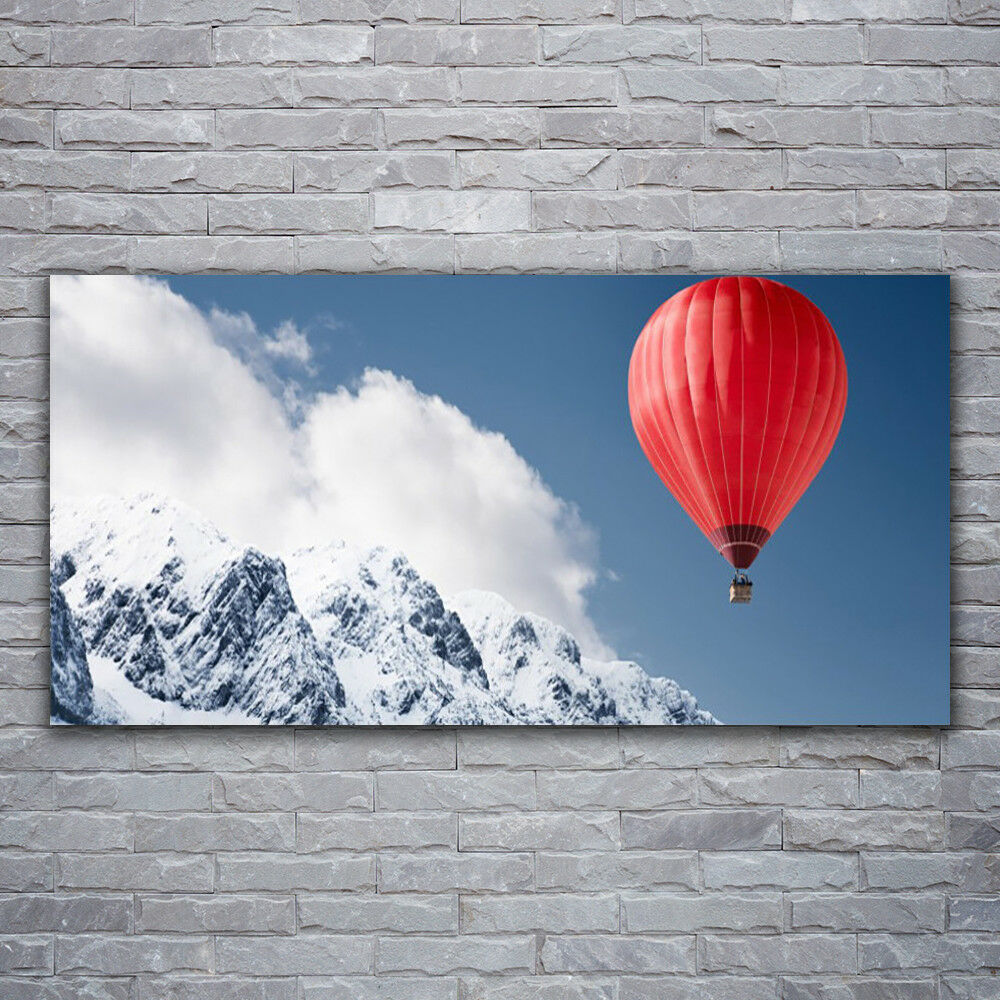 Photo sur toile Tableau Image Impression 120x60 Montagne Ballon À Air Chaud