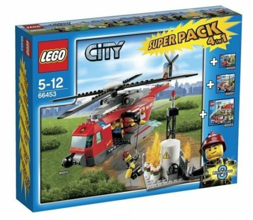 LEGO ® City 66453 Pompiers Super Pack 4in1 Nouveau neuf dans sa boîte Fire Value Pack New 60003