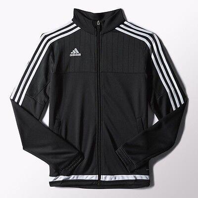 Adidas Damen Tiro 15 Trainingsjacke Schwarz Weiß