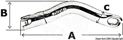 OSCULATI Marine Boat Anchor 10mm 11mm 12mm Chain Swivel Twist Connector