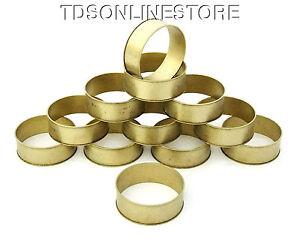 Raw Brass Channeled Bracelet Bangle Blanks 3/4 inch Pkg Of 12