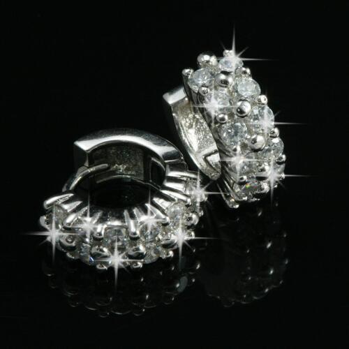 Ohrringe Creolen Zirkonia weiß 925 Sterlingsilber silber Geschenk O1069