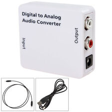TV Optical Digital SPDIF/Coaxial to RCA L/R Headphone Analog Audio Converter Out