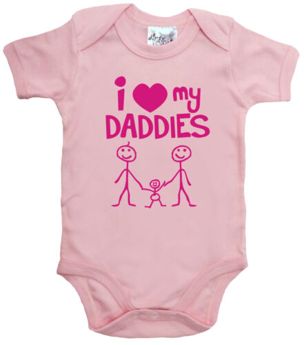 "Baby LGBT Bodysuit /""I Love My Daddies/"" baby grow Vest Gay Pride"
