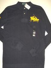 NWT Mens Ralph Lauren Dual Match Pony Long Sleeve Mesh Polo Shirt S Small NEW