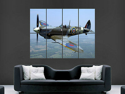 SPITFIRE AEROPLANE WAR GIANT WALL POSTER ART PICTURE PRINT LARGE HUGE