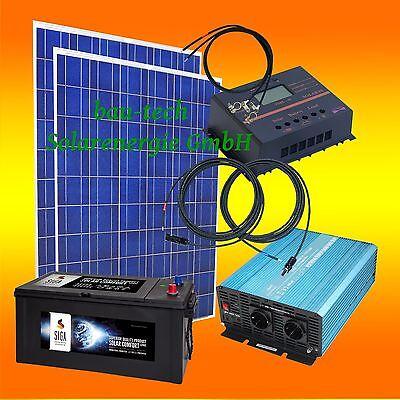 1 5kw inselanlage solaranlage photovoltaikanlage solar set mit batterie speicher ebay. Black Bedroom Furniture Sets. Home Design Ideas