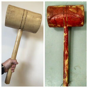 Details about REALISTIC FOAM LATEX XL LARGE CLOWN MALLET HALLOWEEN HORROR  MOVIE WEAPON PROPS