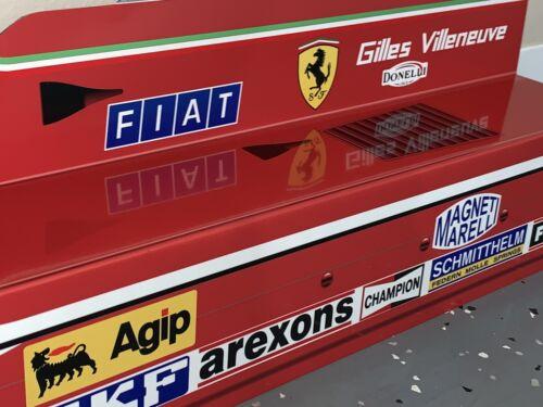 WOW! Gilles Villeneuve FORMULA 1 F1 Ferrari Race Car Style Sign