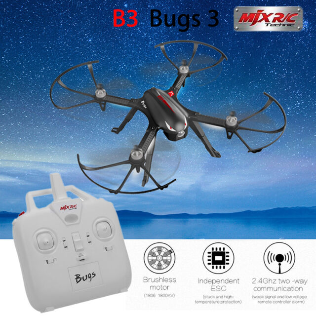 MJX Bugs 3 B3 2.4G 6-Axis Brushless LED RC Quadcopter w/Camera Mount Smart Black