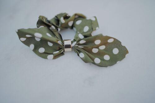 Polka dot Ribbon Bow Scrunchie Hair tie accessories AU Seller