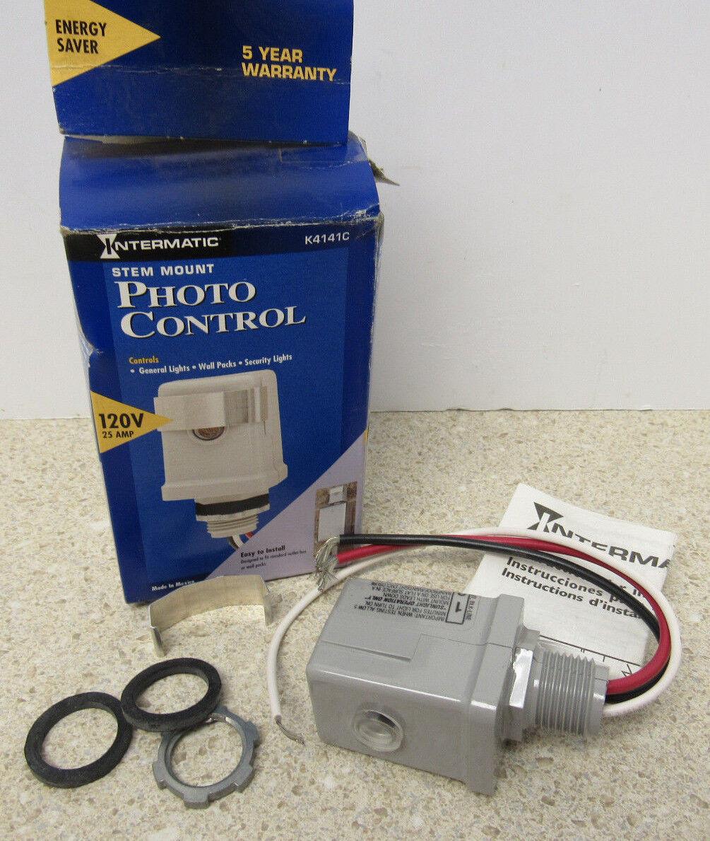 Intermatic K4141C 120-Volt 25-Amp Stem Mount Photo Control