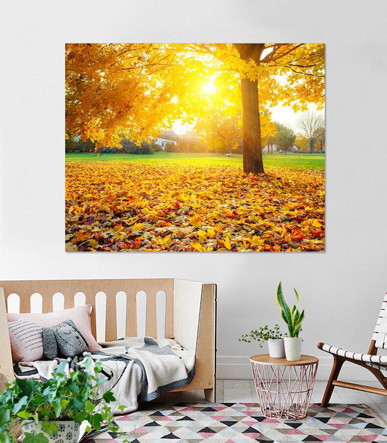 3D Goldene Bltter, Baum 36 Fototapeten Wandbild  BildTapete Familie AJSTORE DE