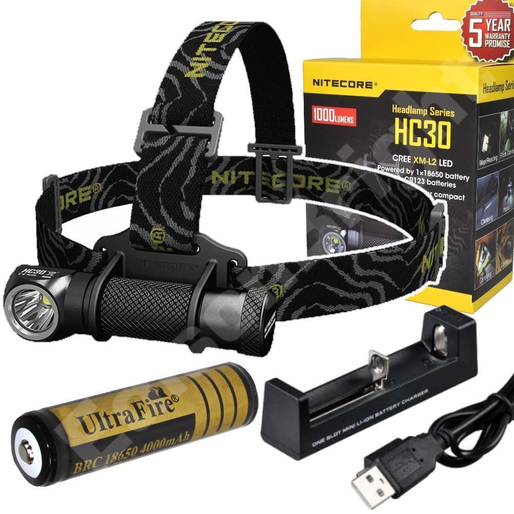 New Nitecore HC30 Cree LED 1000 Lumen headlamp headlamp headlamp wrechargeable Battery & Charger 3708a9
