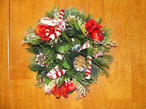 Vela Floral De Navidad Artificial De Plástico Vintage Anillo