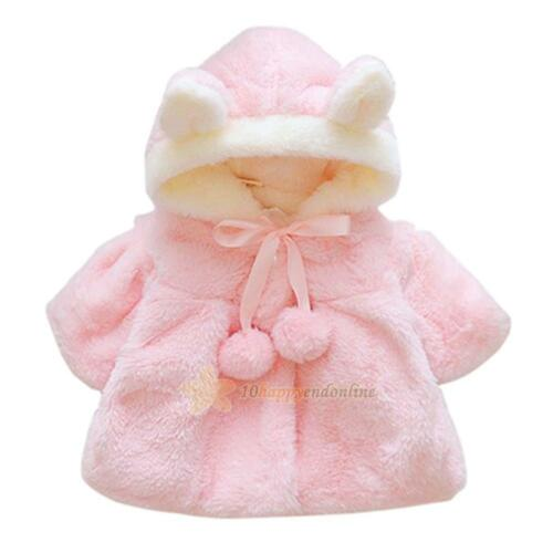 Winter Infant Baby Princess Girls Thicken Clothes Coat Casual Jacket Fur Outwear