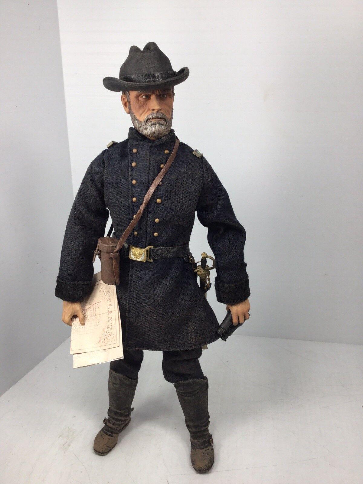 1 6 Sideshow Unión Civil War Maj GEN William Tecumseh Sherman Dragon Bbi hizo 21