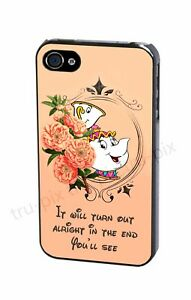 Disney Beauty And The Beast Mrs Potts And Chip Quote Phone Case