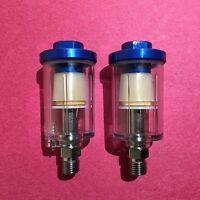 2 Mini Inline Air Filter Water Oil Trap Hvlp 1/4 Spray Gun Iwata Sata Devilbiss