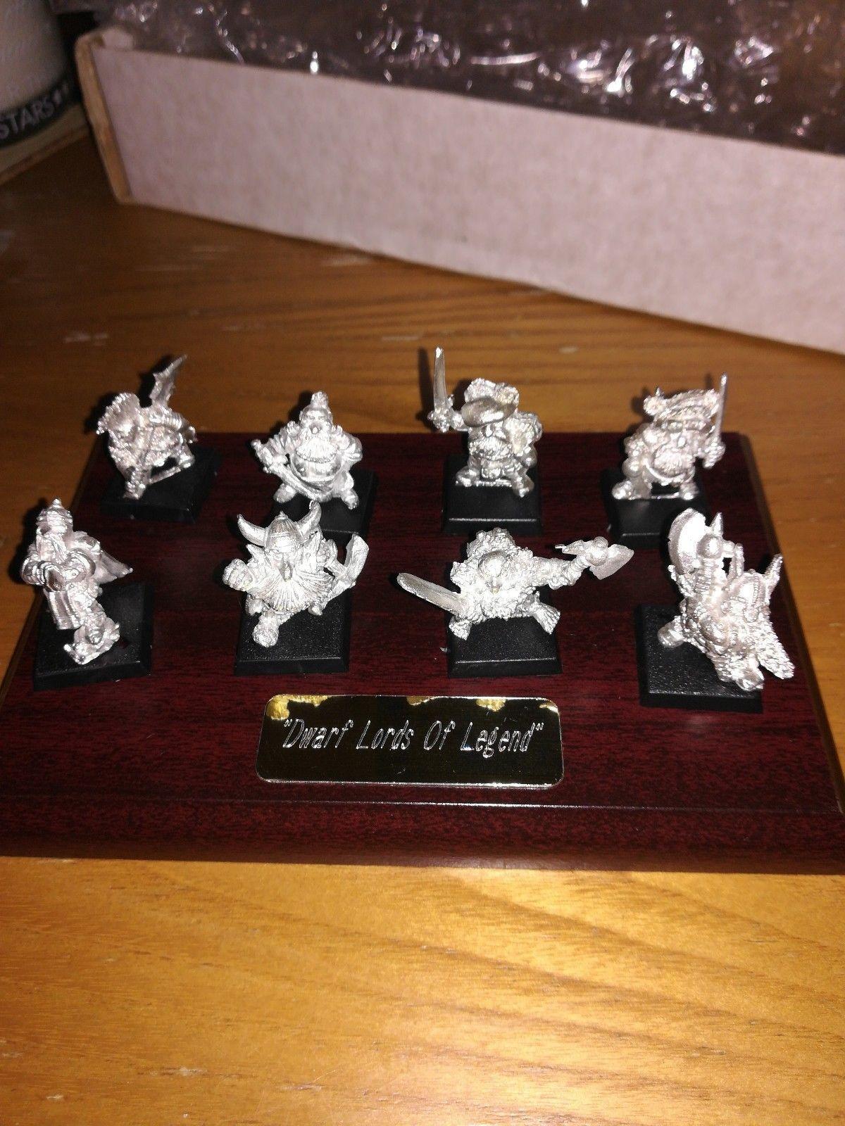 Warhammer Skullz Dwarf Lords of Legend Dwarves with Plaque Metal Figures Fantasy