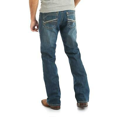 Men/'s NWT WRANGLER ROCK 47 Medium Wash Mid Rise Slim Fit Boot Cut Jeans MRB47LY