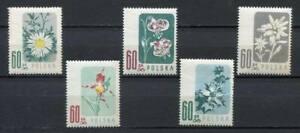 35637) Poland 1957 MNH Flowers 5v Scott #781/85