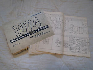 1974 FORD GALAXIE CUSTOM 300 500 LTD WIRING DIAGRAMS SE | eBayeBay
