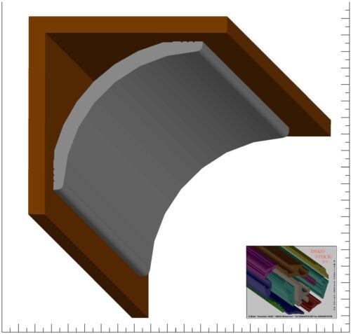 "4 I-A Ecken Dekor /""Verdal/"" Stuckleiste Stuckprofile 9 cm x 9 cm 32 Meter"