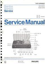 Philips Original Service Manual für TAP 22 RH 852