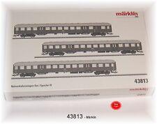 Märklin 43813 Lot de wagons banlieue la CFL 3 pièces#neuf emballage d'origine#