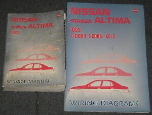 1993    Nissan       Stanza       Altima       Service       Repair    Manual Set   eBay