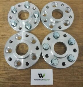 5x100-to-5x112-Hubcentric-Adapters-20mm-amp-25mm-wide-57-1CB-SS-threads-UK-Made