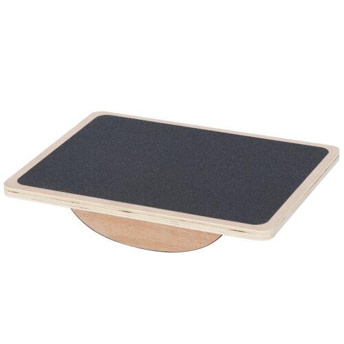 Wobble Boards Wooden Anti Slip Roller Core Strength Stability Balance Board