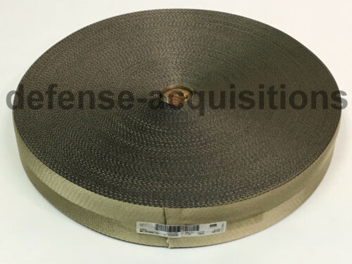 "100 YARD ROLL 2.25 Inch MilSpec Webbing MIL-W-4088 T//8C C//1A KHAKI//COY 2 1//4/"""