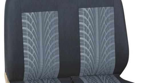2+1 Vordere Sitzbezüge Schonbezüge schwarz-grau aus Stoff mit Rauteprint