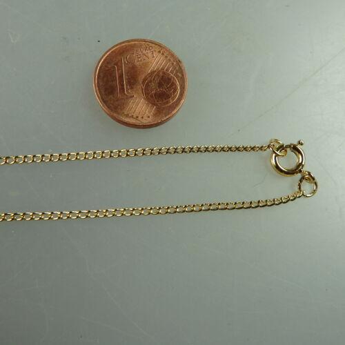 Feine Rundanker Kette Gold Double 1,3 mm 39 cm (41394)