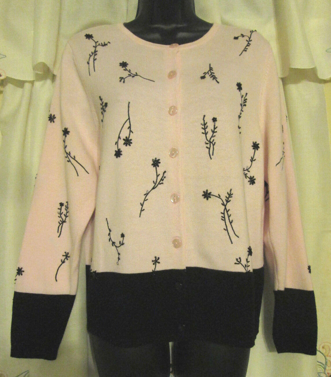 Dressbarn Button Up S Cottagecore Embroidered Sw… - image 1