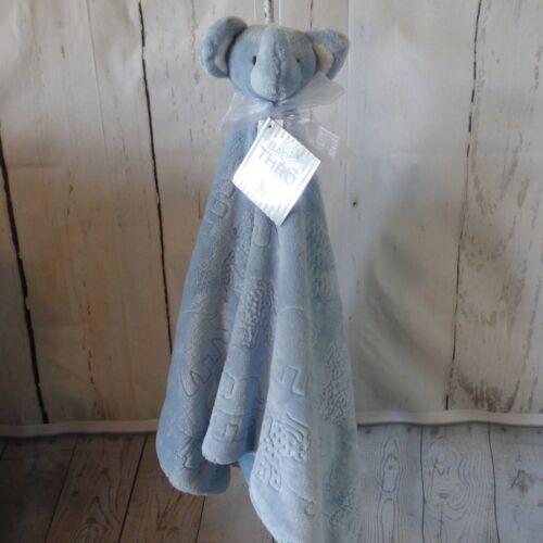 BABY THRO BETH BAZZAR ELEPHANT NUNU LOVEY SECURITY BLANKET BLUE//PINK//GRAY NWT