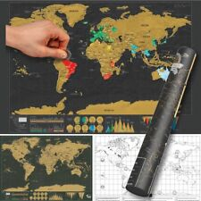 Black scratch off travel world map premium edition us outlined new personalized deluxe travel edition scratch off world map poster journal log gumiabroncs Gallery