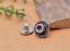 10X-Silver-Tone-Flower-Leather-Craft-Bag-Belt-Purse-Decor-Turquoise-Conchos-Set miniature 35