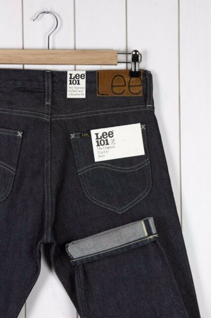 NEW LEE 101Z 15Oz HEAVY DRILL SELVAGE DRY/RAW DENIM JEANS REGULAR -All Sizes-